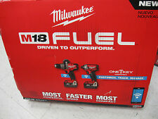 NEW MILWAUKEE 2796-22 M18 ONE KEY BLUETOOTH HAMMERDRILL IMPACT DRIVER COMBO KIT