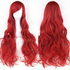 Wholesale Women Lady Anime Long Curly Synthetic Hair Party Cosplay Full Wig Red