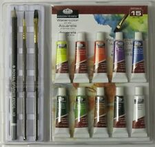 ARTISTS 15 PIECE WATERCOLOUR ART SET IN CLAMSHELL BY ROYAL & LANGNICKEL