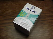 100 Lancets Bayer Microlet New in Box Sealed Expires 11/2019 or Later