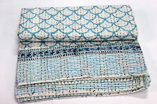double size Kantha Quilt Throw Hand Made Gudri New Indian Block Print mehrab