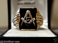 TITANIC HISTORY ULTRA RARE SOLID 10K GOLD MASONIC TUXEDO RING