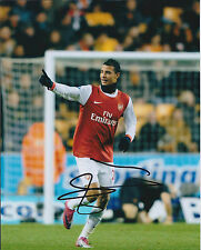 Marouane CHAMAKH Arsenal SIGNED COA Autograph 10x8 Photo AFTAL The Gunners RARE