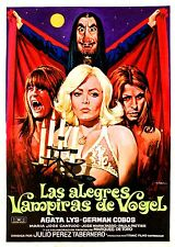 (PRESS BOOK BROCHURE ORIGINAL) LAS ALEGRES VAMPIRAS DE VOGEL 1975 - VAMPIROS