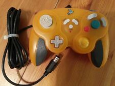 Nintendo GameCube clear orange Controller Tested And Cleaned
