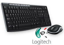 LOGITECH MK270 Wireless UK QWERTY Tastiera & Mouse Combo Desktop impostato in Nero