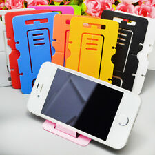 Lot 5PCS Portable Card Foldable Cell Phone Stand Holder Headphone Winding Device