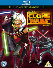 Star Wars - Clone Wars - Series 1-5 - Complete (Blu-ray, 2013, 5-Disc Set, Box S