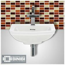 BRICK Rectangular Glass Mosaic Tiles Bathrooms Kitchens Wall Floors SALE! 4B-103