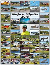 BELFAST MAINE AIRPORT FLY-IN 2015 POSTER WITH FLEET OF VANS RV AIRCRAFT & MORE