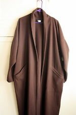 EILEEN FISHER Women's Over Sized M Wool Long Brown Duster Coat Pockets