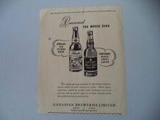 advertising Pubblicità 1949 CANADIAN BREWERIES CARLINGS/OLD VIENNA BEER