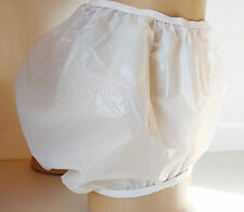 Ladies or Gents WHITE Opaque PVC Plastic Incontinence Pants Unisex    M - Medium
