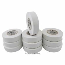 "10 Rolls White Vinyl PVC Electrical Tape 3/4"" x 66' Adhesive - Free Shipping"