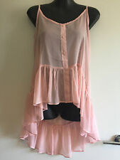 BNWT – Cotton On – Powder Pink Sheer Shore Tank Hi-Lo Top – Size M – RRP $24.95