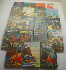 Vintage Hardy Boys Books Lot #17 ~ 19 Matte Blue Hardcover ~ #1-18 and #20