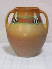 ROSEVILLE POTTERY, MONTICELLO, LARGE DOUBLE HANDLE VASE, OUTSTANDING CONDITION~~