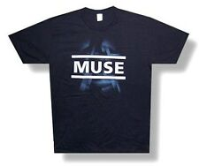 "MUSE - ""DIMENSION"" FUTURISTIC DESIGN SOFT BLACK T-SHIRT - NEW ADULT SMALL S"
