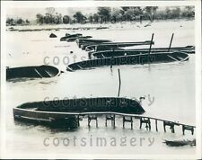 1941 WWII Stukas Bombing Destroys British Pontoon Bridge Greece Press Photo
