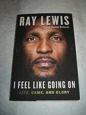 I Feel Like Going On Baltimore Ravens by Ray Lewis SIGNED 1st/1st 2015 HCDJ