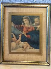 vintage St Joseph,Mary and the Christ Child print by Guido Reni.