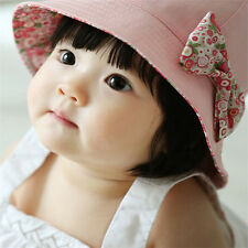 Cute Bow Flower Toddlers Baby Girls Summer Sun Hat Double Faced Princess Cap