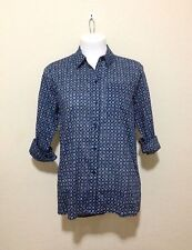 Michael Michael Kors Nimera Button Down Shirt - Blue/Small