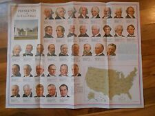 Old Vintage Presidents of the United States Poster Picture - up to 1969 Frame it