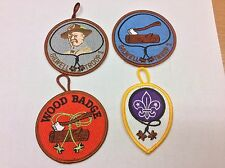 4 Wood Badge Patches - 3 w/button loop - Wood Badge World Crest!