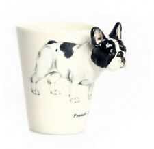 Blue Witch 3D -French Bull Dog Ceramic Hand Crafted Coffee Mug