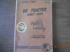 Caterpillar Parts Book D8 Tractor direct drive S/N 14A3861-UP