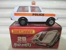 Lesney Matchbox 1975 MB20B White Police Patrol with Police Labels Mint Boxed