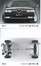 Alfa Romeo 164 Q4 Original Press Photograph x 2 1993 Front & Chassis