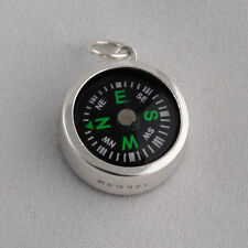 Working Compass Charm - 925 Sterling Silver - Nautical Travel Gift Pendant NEW