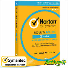 NORTON Security 2017 3 Geräte | PC ,Mac,Android,iOS| Internet Security DE-Lizenz