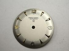 Mens 25.44mm Gold Markers Automatic Ernest Borel Vintage Pearl Watch Dial NOS