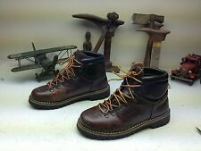 DISTRESSED BROWN VINTAGE ALPIN CLIMBERS LEATHER ENGINEER MOUNTAINEER BOOTS 44 D