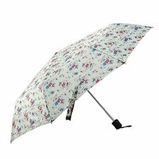 Folding Umbrella Cream Floral Summer Daisy Rain Weather Women's Girls
