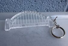SYDNEY HARBOUR BRIDGE transparent jumbo keychain Australia steel arch