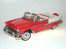 Franklin Mint, 1955 Chevrolet Bel Air Convertible, rot/creme, 1/24