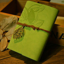 Vintage Leaf Leather Cover Loose Leaf Blank Notebook Journal Diary New POP