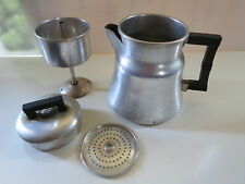 Vintage Wear Ever Aluminum Stove Top Camping Percolator 4-6 Cup Coffee Pot 3006