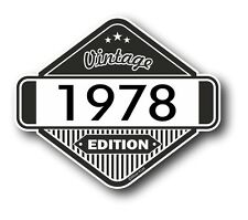 Vintage Edition 1978 Classic Retro Cafe Racer Style Vinyl Motorcycle car sticker