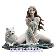 NEW * STORM MAIDEN * WOLF WHITE WITCH  FIGURINE STATUE  WITH FREE POST C1993