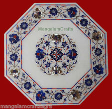 2' Marble Table Top Handmade Inlay Pietra Dura Handicraft Home Decor for Gift
