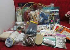 HUGE CRAFT CRAFTING SUPPLIES LOT #1 NEEDLECRAFT, LACE, HOOPS, RAFFIA & MUCH MORE