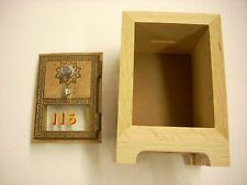 Post Office Bank Kit comes with door and oak cabinet,  for you to finish (BK01)