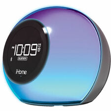 iHOME iBT29 BLUETOOTH SPEAKER+COLOR-CHANGING+DUAL ALARM+CLOCK+FM+SPEAKER PHONE