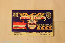 """OHIO """"Spirit of '76"""" 1976 Lottery Tickets ~ Vintage gaming"""