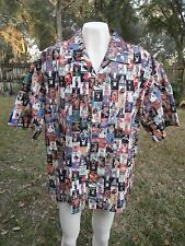 Playboy Shirt ~ Men's Hawaiian ~ Vintage Sz  XXL Pamela Vanna Latoya Covers